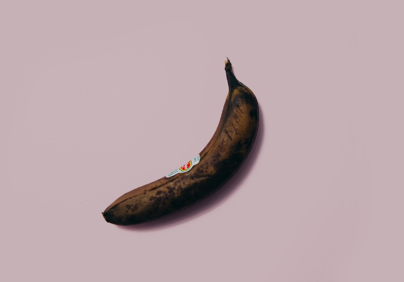 A withering banana meant to illustrate a penis before viagra