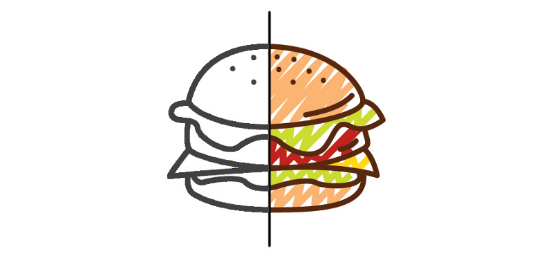 The structure and the appearance of a hamburger