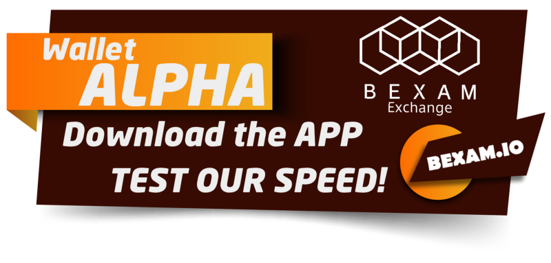 The BEXAM Exchange Wallet Alpha is Open