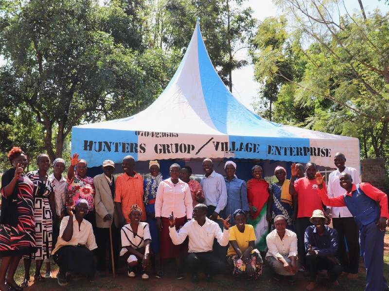 Hunters Business Group members Village Enterprise tent