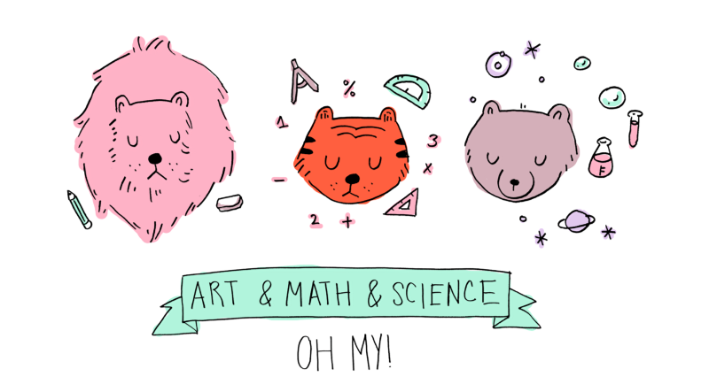 how to draw science things