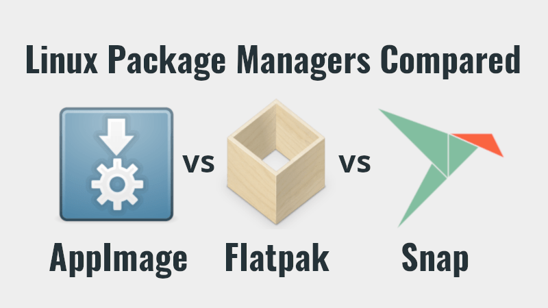 The three universal packaging formats. (Credit: ostechnix.com)