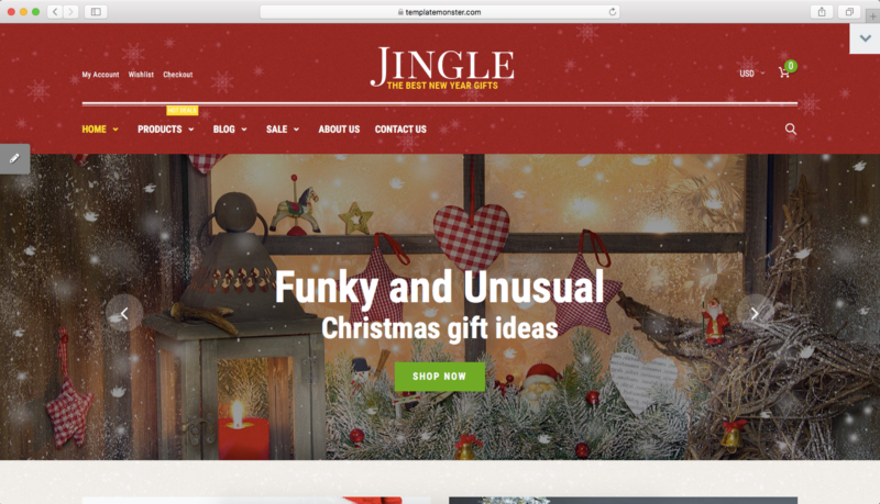 holiday design website template