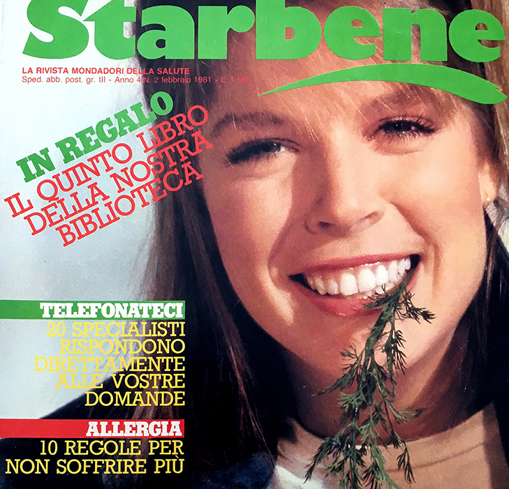 Front page of the Starbene french magazine cover