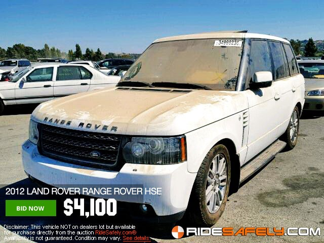 Online Car Auction >> Shop For Used Salvage Land Rover Cars At The Online Car Auction
