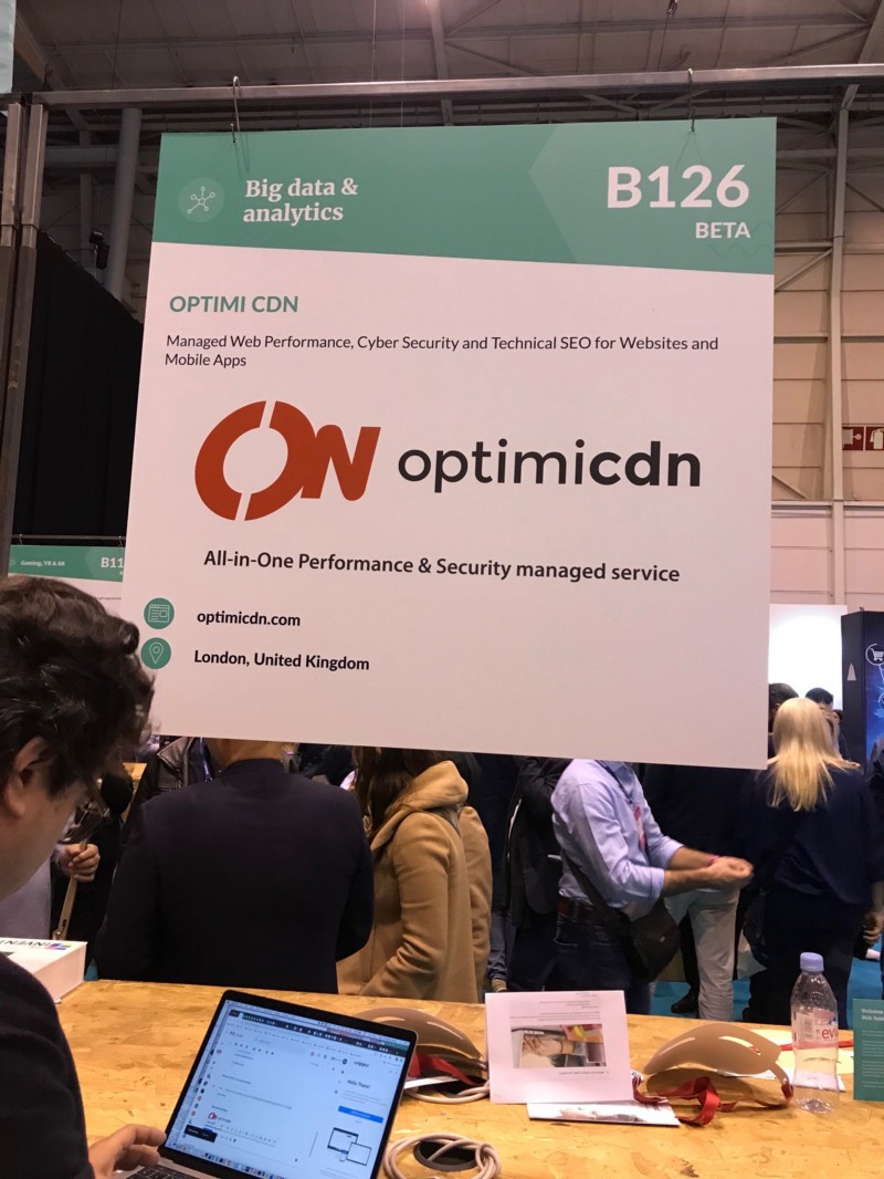 Optimicdn, startup from UK at Web Summit 2018
