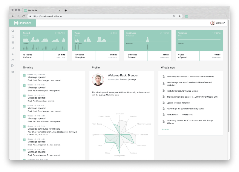 Personalized Dashboard with Analytics for the Performance of Your Emails