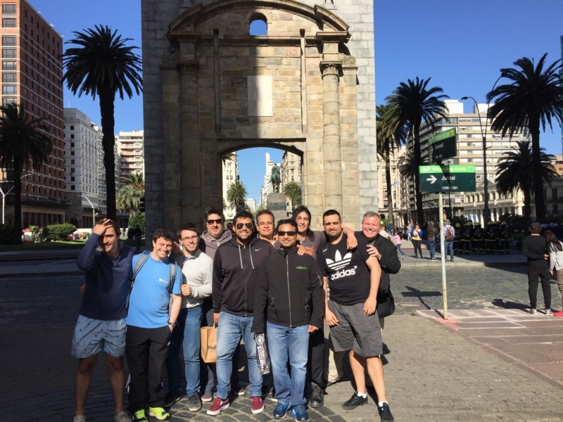 Photo taken at the Old City Gates of Montevideo, Uruguay