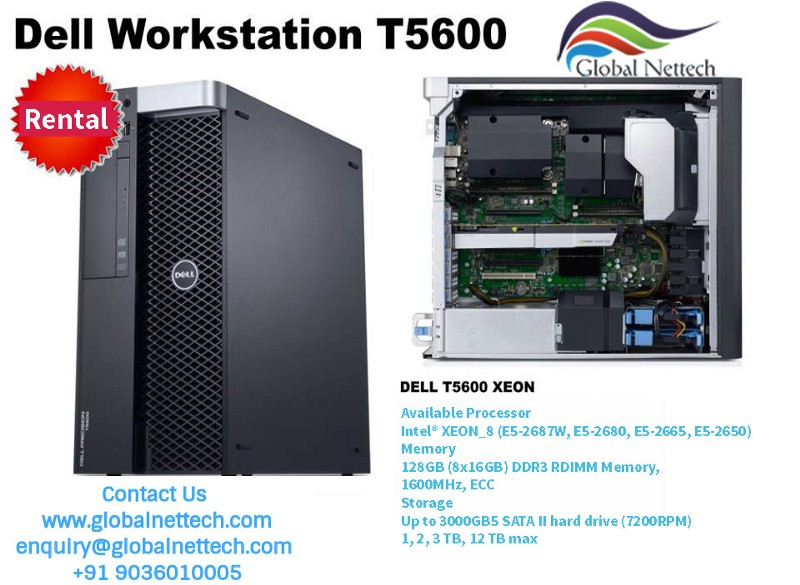 Dell Precision T5600 Intel Xeon Tower Workstation for Rental