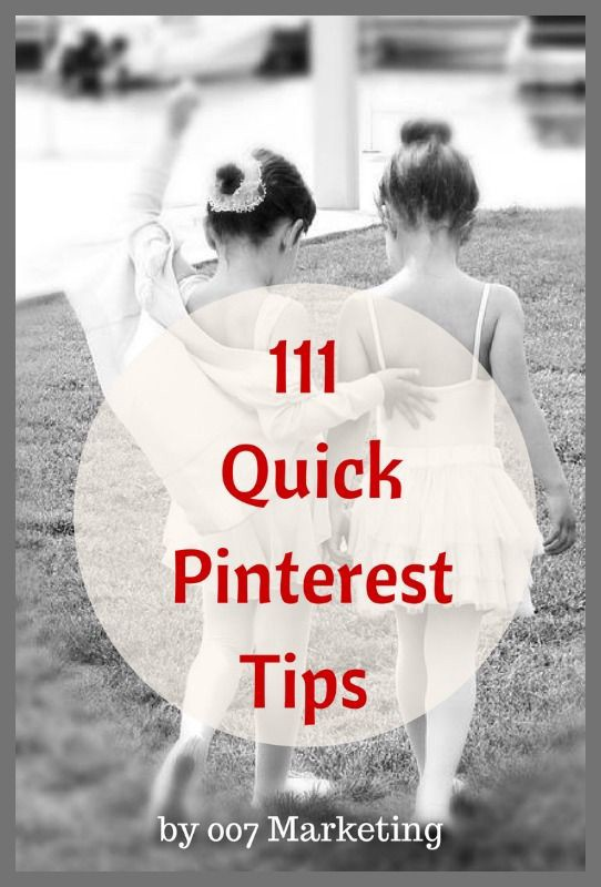 111 Quick Pinterest Tips