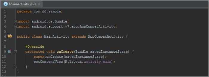 android studio how to see line number