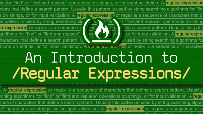 Learn Regular Expressions with this free course