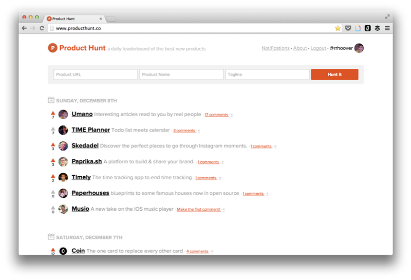 Product Hunt years ago.