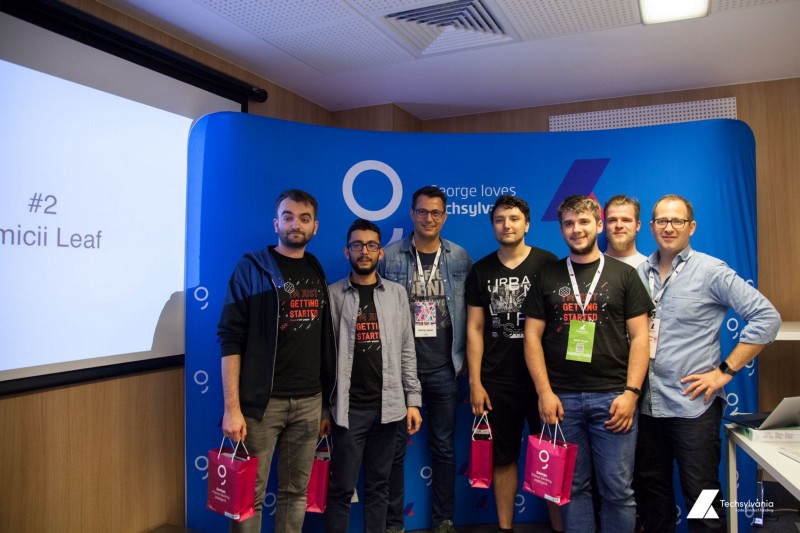 The team that won 2nd prize at Hackathon, Techsylvania 2019