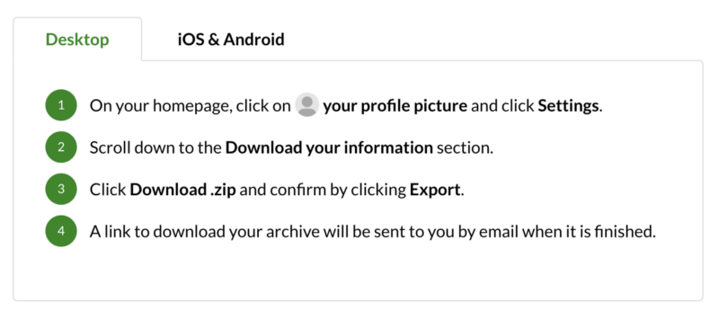 Medium gives you the ability to export your personal data and stories as HTML files in a.zip archive.