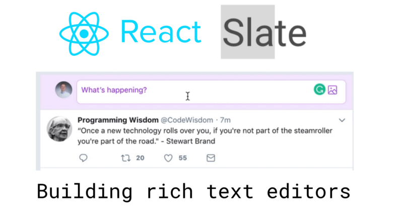 Let's build a fast, slick and customizable rich text editor with Slate.js and React