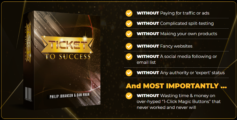 Ticket To Success Includes