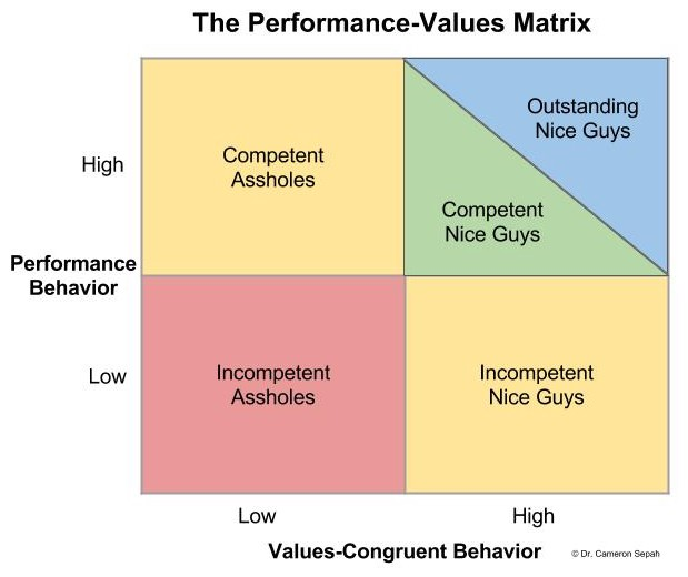 The Performance-Values Matrix – Performance behaviour against values-congruent behaviour by Dr Cameron Sepah