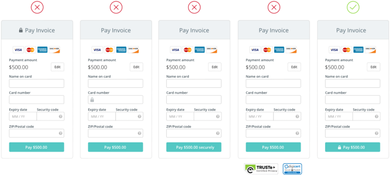 The anatomy of a credit card form uxdesigncc – Payment Form