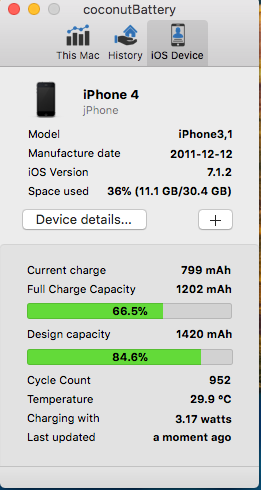 The Present Full Charge Capacity Of My Iphone 6s Plus Is 90 2467mah And Matches With Battery Life It Says Phone Has Completed 405 Cycles