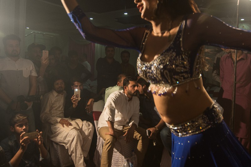 Mujra at a private party in Lahore. Photo credit: Nadia Narejo.