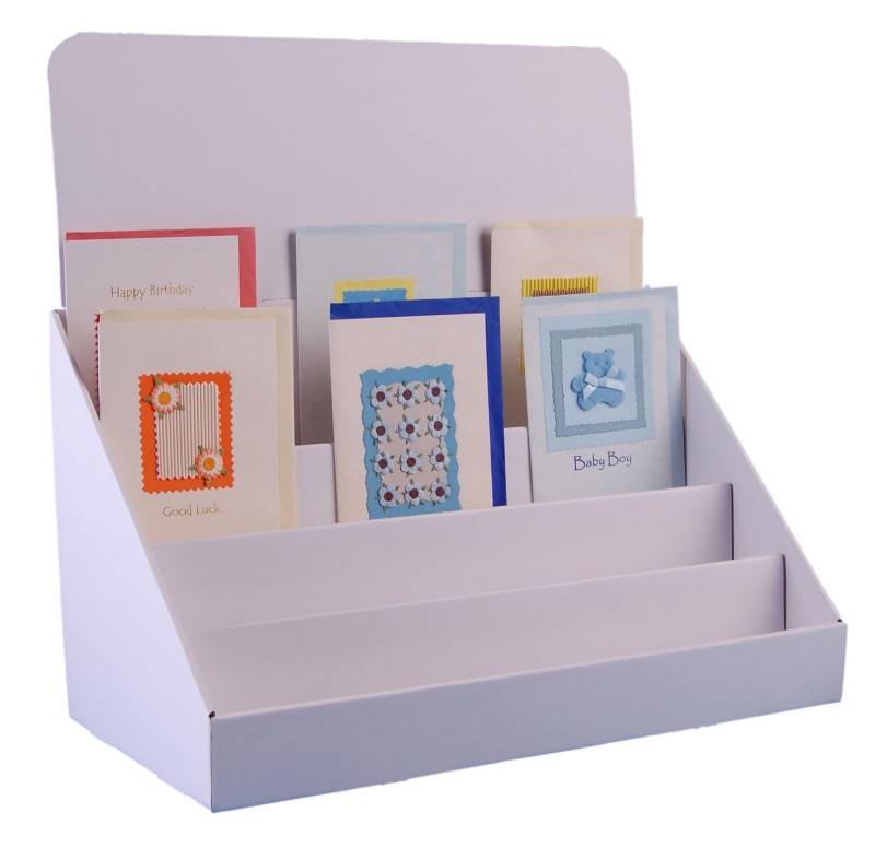 counter display box white color, clear view & attractive design