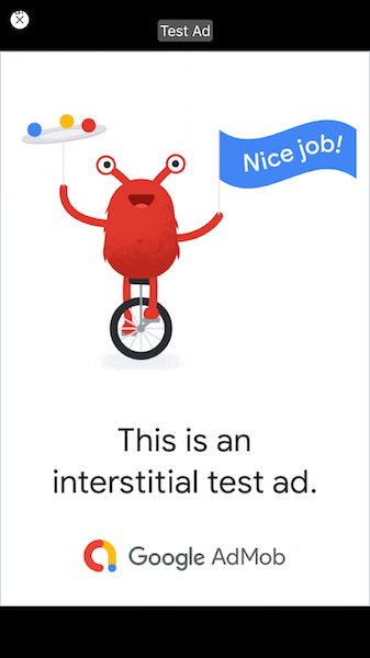 Admob interstitial ad in React Native app