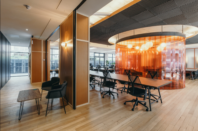 Coworking space with music studio