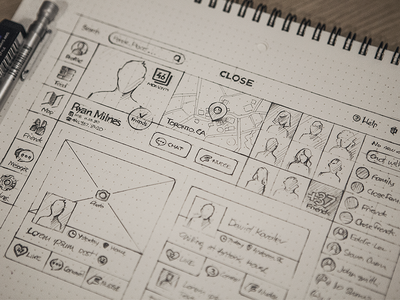 Sketching/Paper Wireframing example