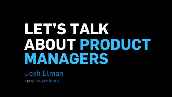Let's talk about product management.