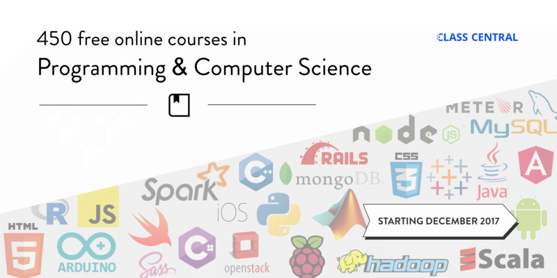 450 Free Online Programming & Computer Science Courses You Can Start in December