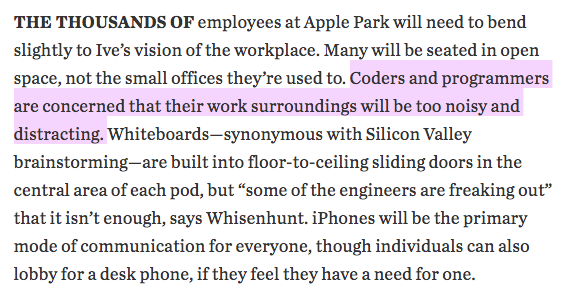 WSJ on Apples new HQ