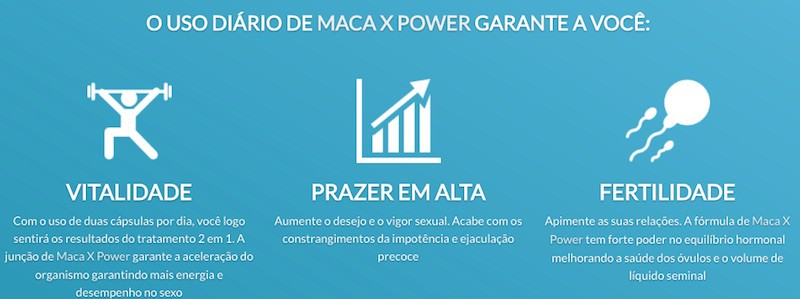 Maca x power para que serve