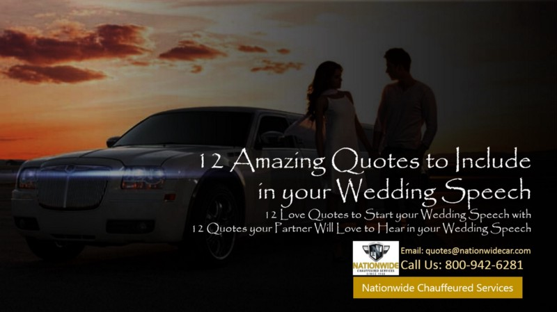 12 Love Quotes to Start your Wedding Speech with by Nation