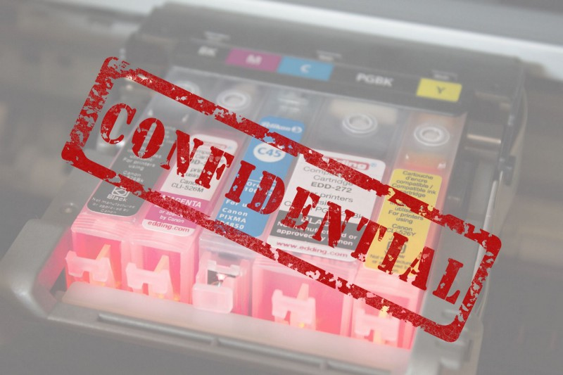 """""""Confidential"""" Image by Gerd Altmann from Pixabay, Ink Cartridges image from Pxfuel"""