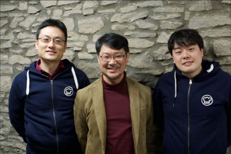 Matz (middle), Koichi (left) and Yusuke (right) at Cookpack's Bristol office