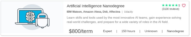 Artificial Intelligence Nanodegree by Udacity