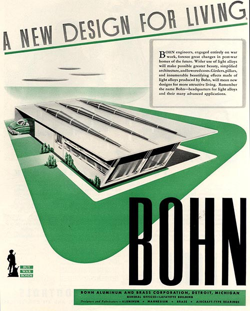 """A New Design for Living."" Arthur Radebaugh for Bohn, 1943."