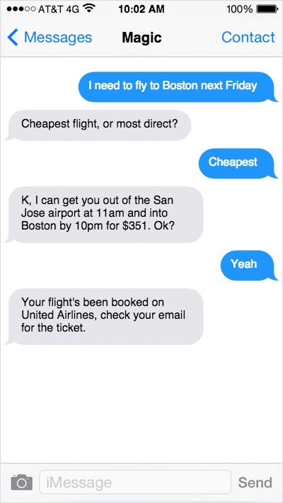 example of text message conversation