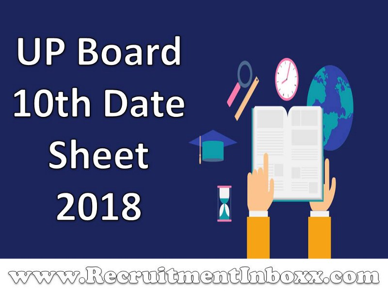 Up board 10th date sheet release check online pdf here for Up board 10th time table