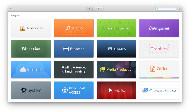 AppCenter's homepage with new and redesigned categorycards