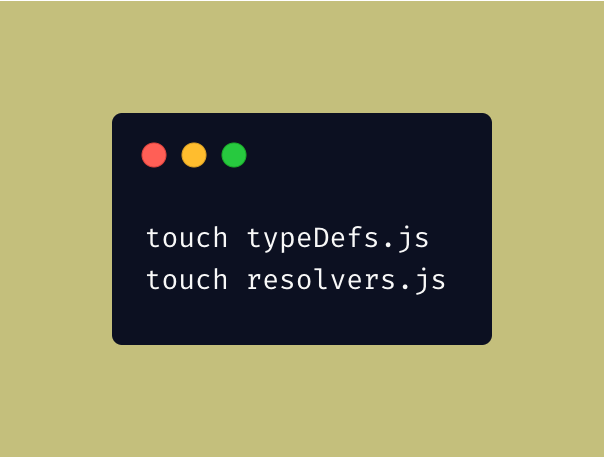 Creating typeDefs and resolvers file