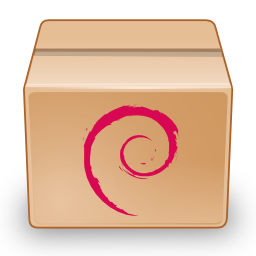 An icon for a Debian (.deb) package that can be installed with APT. (Credit: pc-freak.net)