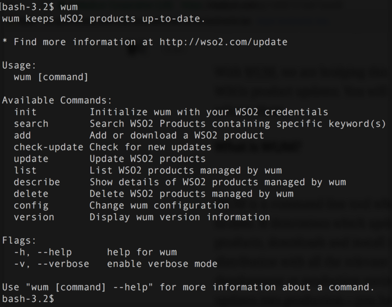Keep your WSO2 products up to date with WUM | The Source