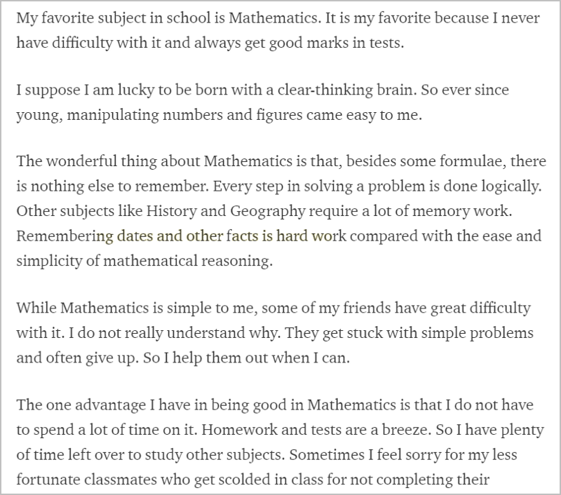essay my favourite subject mathematics Click here 👆 to get an answer to your question ️ my best subject is math, but my favorite subject is science what type of sentence is this a declarative.