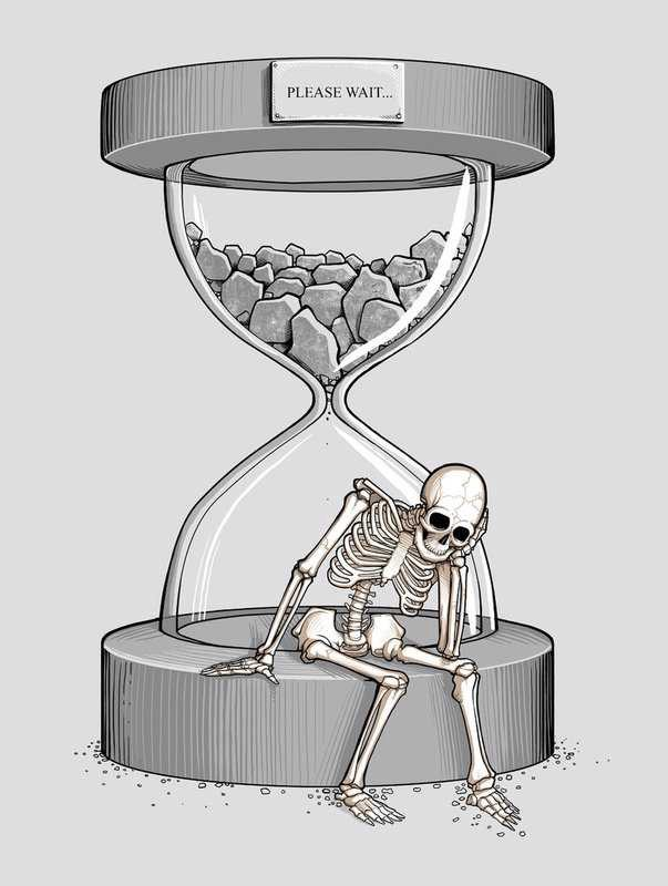 A picture of a person waiting to die