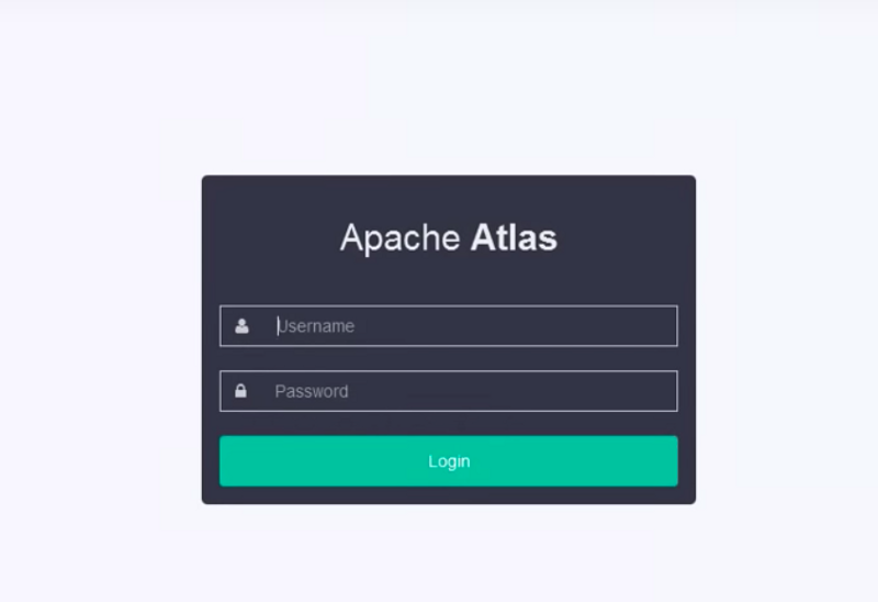 login to apache atlas