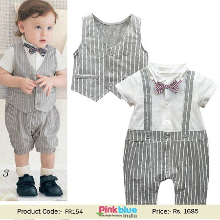 Baby Boy Wedding Romper Suit