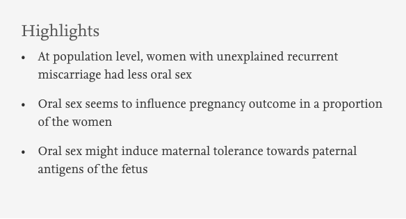 Does oral sex prevent miscarriage? | wrisk