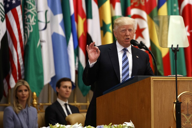 Trump urges Middle East to 'drive out' Islamist extremists